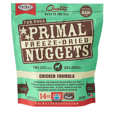 PRIMAL Chicken Formula Freeze-Dried Raw Dog Food 14 oz.