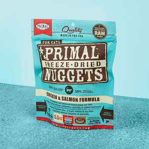 PRIMAL Chicken & Salmon Nuggets Freeze-Dried Raw Cat Food 14 oz.
