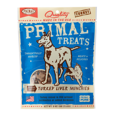 PRIMAL Freeze-Dried Turkey Liver Munchies 2 oz.