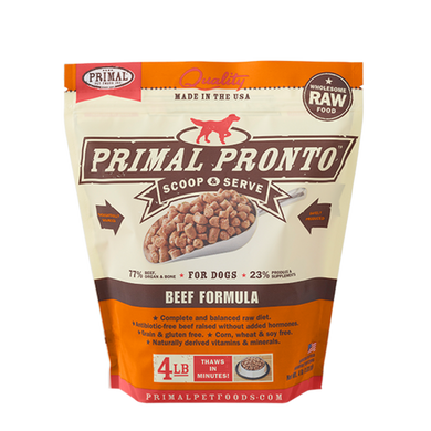 PRIMAL Pronto Beef Frozen Raw Dog Food 4 lb
