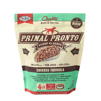 PRIMAL Pronto Chicken Frozen Raw Dog Food 4 lb