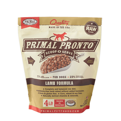 PRIMAL Pronto Lamb Frozen Raw Dog Food 4 lb