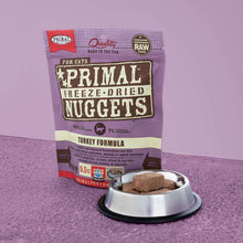 Load image into Gallery viewer, PRIMAL Turkey Nuggets Freeze-Dried Raw Cat Food 14 oz.