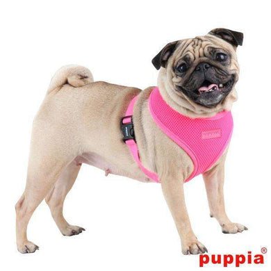 Puppia Neon Soft Vest Harness-Pink