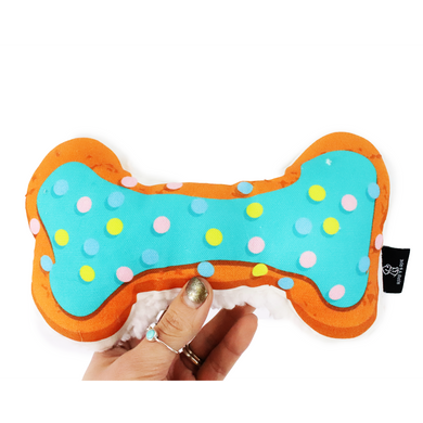 Ripley & Rue Blue Barkday Frosted Bone Dog Toy