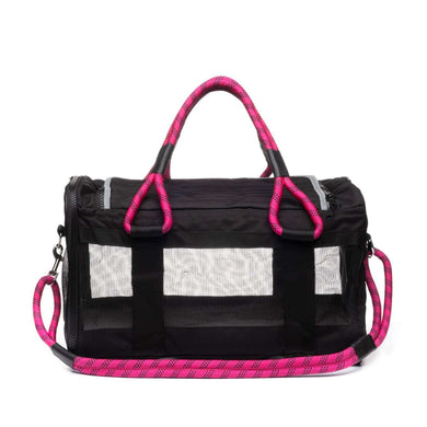 ROVERLUND Out-of-Office Pet Carrier - Black/Magenta - Large