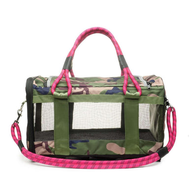 ROVERLUND Out-of-Office Pet Carrier - Camo/Magenta - Large