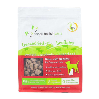 Smallbatch Beef Bites Single-Source Protein Treats 7 oz.