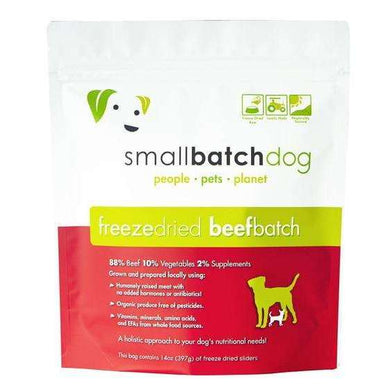 Smallbatch Beef Formula Freeze-Dried Raw Dog Food 14 oz.