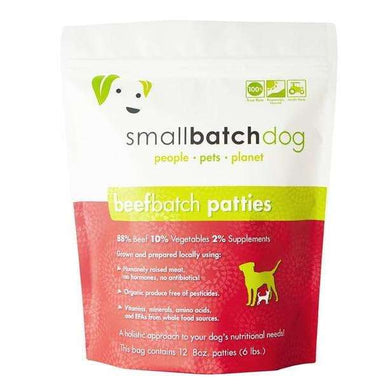 Smallbatch Beef Sliders Frozen Raw Dog Food 3 lb