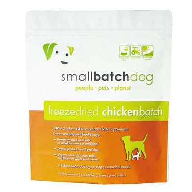 Smallbatch Chicken Formula Freeze-Dried Raw Dog Food 14 oz.
