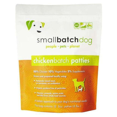 Smallbatch Chicken Sliders Frozen Raw Dog Food 3 lb