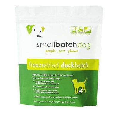 Smallbatch Duck Formula Freeze-Dried Raw Dog Food 14 oz.