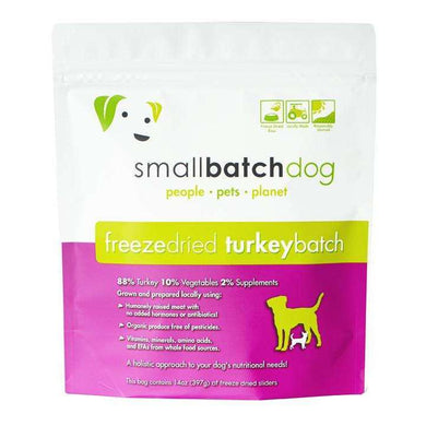 Smallbatch Turkey Formula Freeze-Dried Raw Dog Food 14 oz.