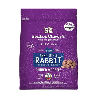 Stella & Chewy's Absolutely Rabbit Morsels Frozen Raw Cat Food 1 lb