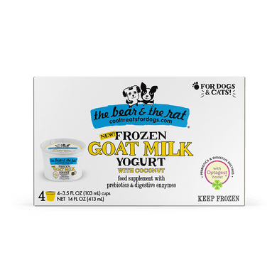The Bear & The Rat Frozen Goat Milk With Coconut for Dogs and Cats 3.5 oz.