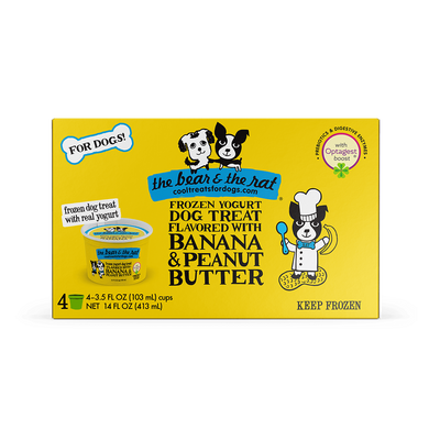 The Bear & The Rat Peanut Butter Banana Frozen Yogurt 3.5 oz.