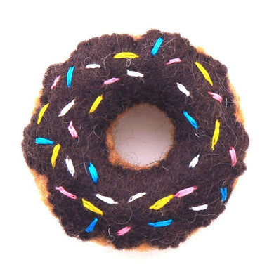 The Foggy Dog Chocolate Donut Cat Toy