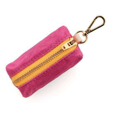 The Foggy Dog Hot Pink Waxed Canvas Waste Bag Dispenser