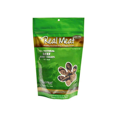 The Real Meat Company Beef Jerky Dog Treats 12 oz.