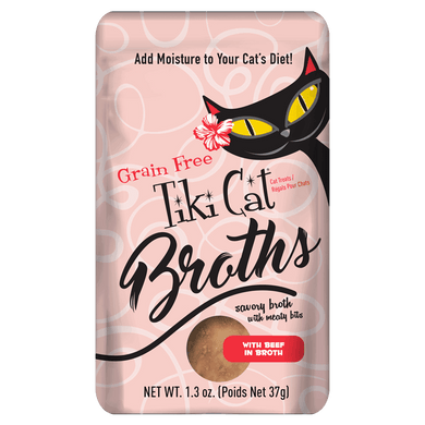 Tiki Cat Beef Broth Case-1.3 oz