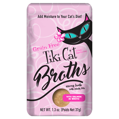 Tiki Cat Salmon Broth Case-1.3 oz