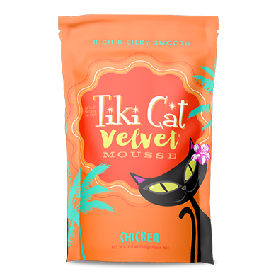 Tiki Cat Velvet Mousse Chicken Recipe Pouches 2.8 oz.