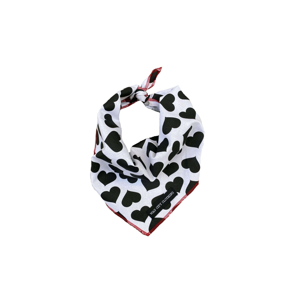 Wag City Clothing Black Heart Bandana