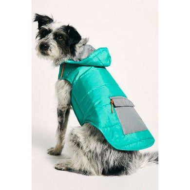 Ware of the Dog Color Block Puffer Jacket-Seafoam/Grey