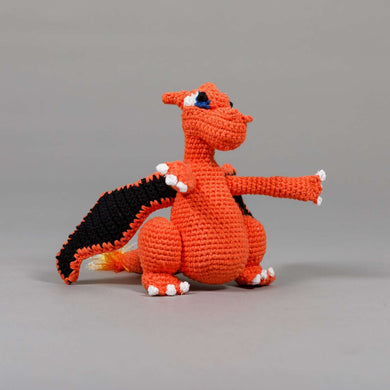 Ware of the Dog Cotton Crochet Dragon Dog Toy