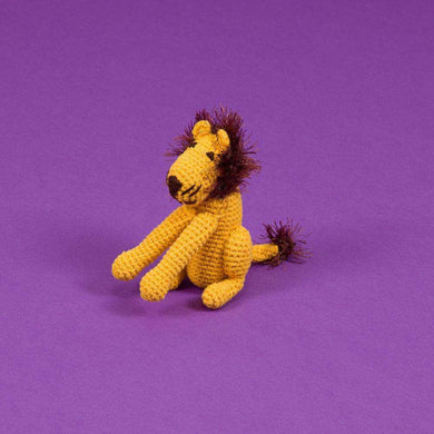 Ware of the Dog Cotton Crochet Lion Dog Toy