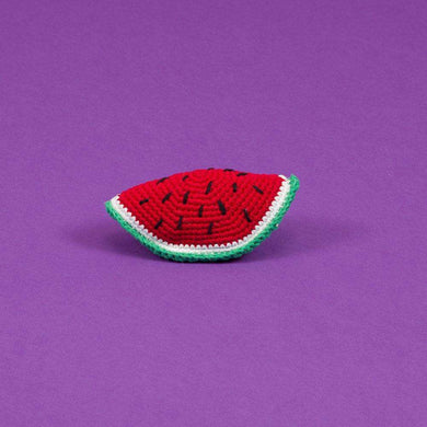 Ware of the Dog Cotton Crochet Watermelon Dog Toy