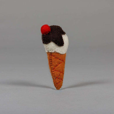 Ware of the Dog Felted Wool Ice Cream Cone Cat Toy