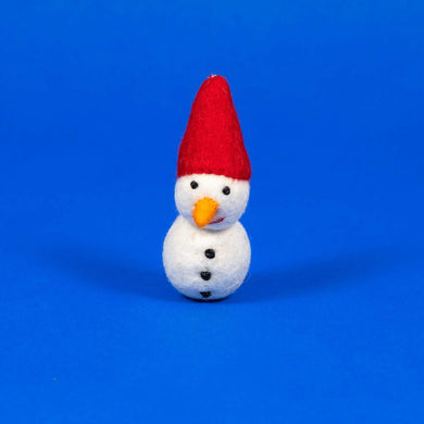 Ware of the Dog Felted Wool Snowman Cat Toy