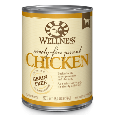 Wellness Ninety Five Percent Chicken Topper Dog Can 13.2 oz.