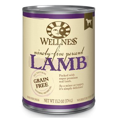 Wellness Ninety Five Percent Lamb Topper Dog Can 13.2 oz.