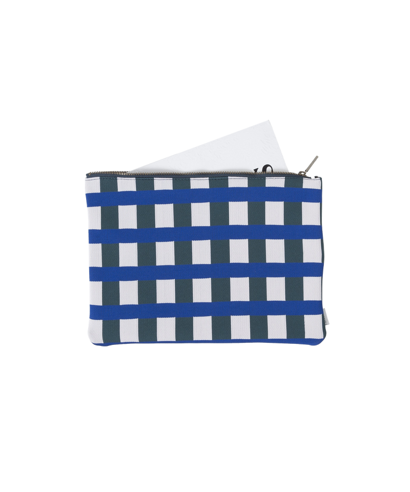 BLOCK CHECK POUCH L