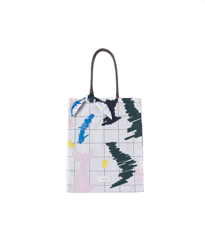 COTTON CHECK PAINT TOTE