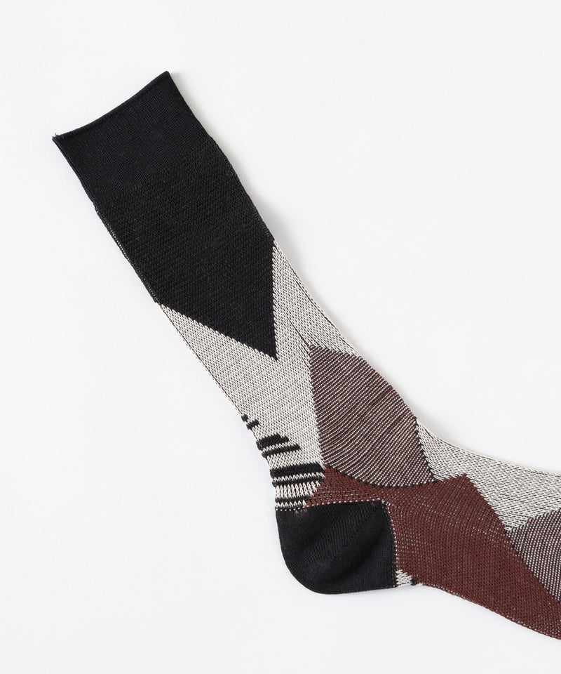 DIA JACQUARD SOCKS (LADIES)