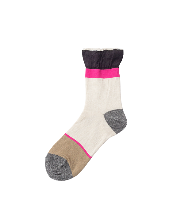 TOE LAME STRIPE SOCKS