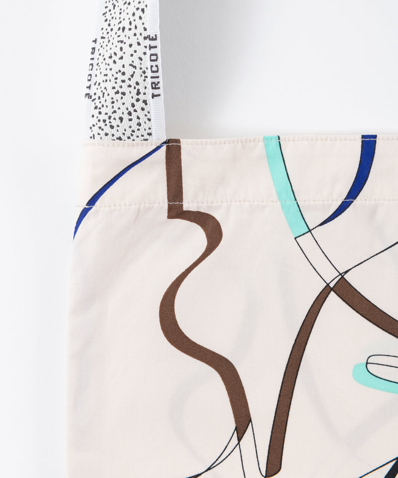 CUT RIBBON TOTE BAG