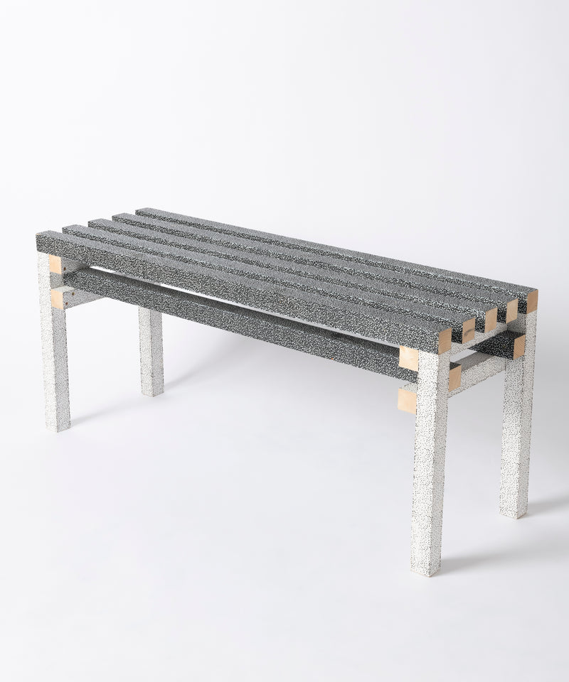 PRINTED WOOD BENCH (SESAME)