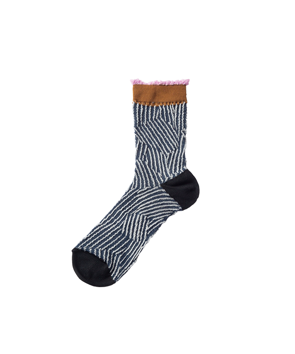 CUT STRIPE SOCKS