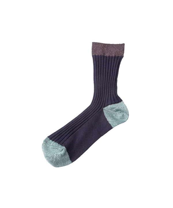 LAME COLOR RIB SOCKS