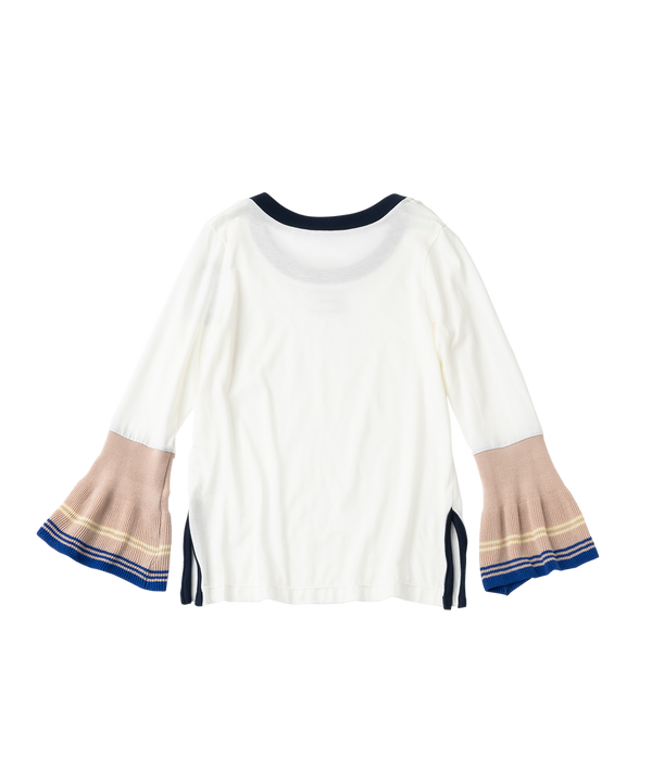FRILL KNIT LONG SLEEVE SHIRT