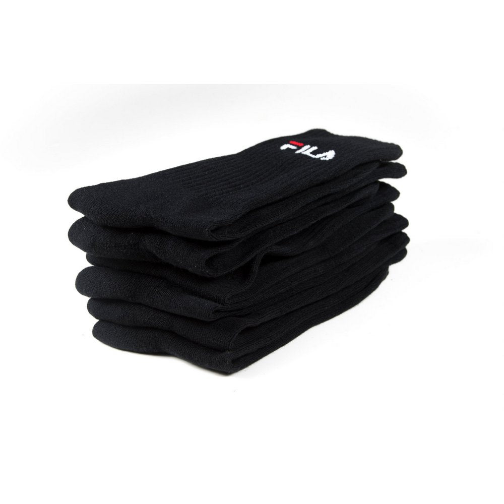 FILA Cushion Foot Sports Socks 3-pack in black, FILA logo