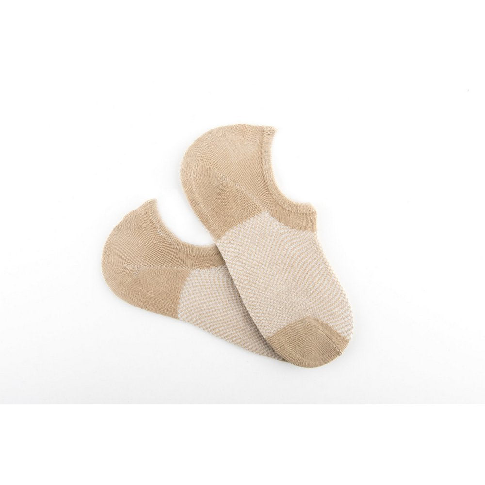 no show socks with heel grip for men and women in beige