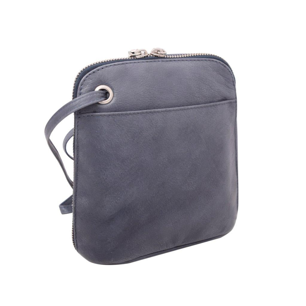 Crossbody Mini Leather Bag, Blue