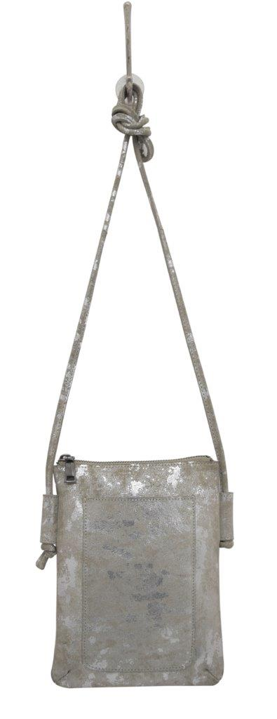 Crossbody Leather Bag, Shimmer Stone