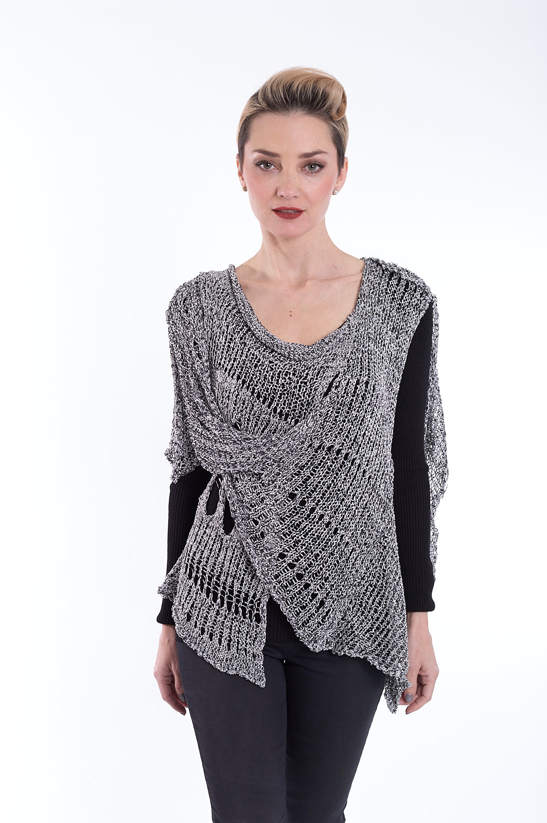 Women's Distressed Knit Wrap